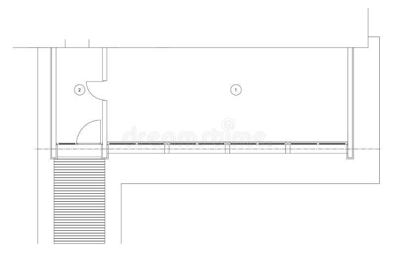 För mallgolv för standart kontor tomma plan royaltyfri illustrationer