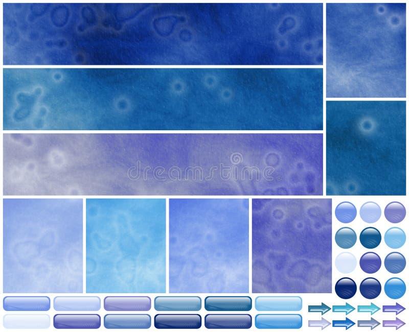för mallviolet för azure kalla element grungy rengöringsduk royaltyfri illustrationer