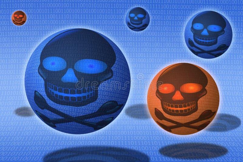 för malwaresäkerhet för brytning digital virus vektor illustrationer