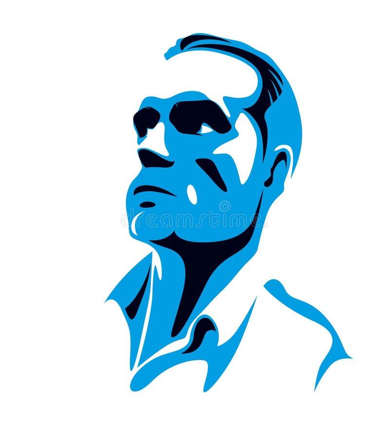 För manaffär för säker lyckad affärsman stilig logo för vektor för person stock illustrationer