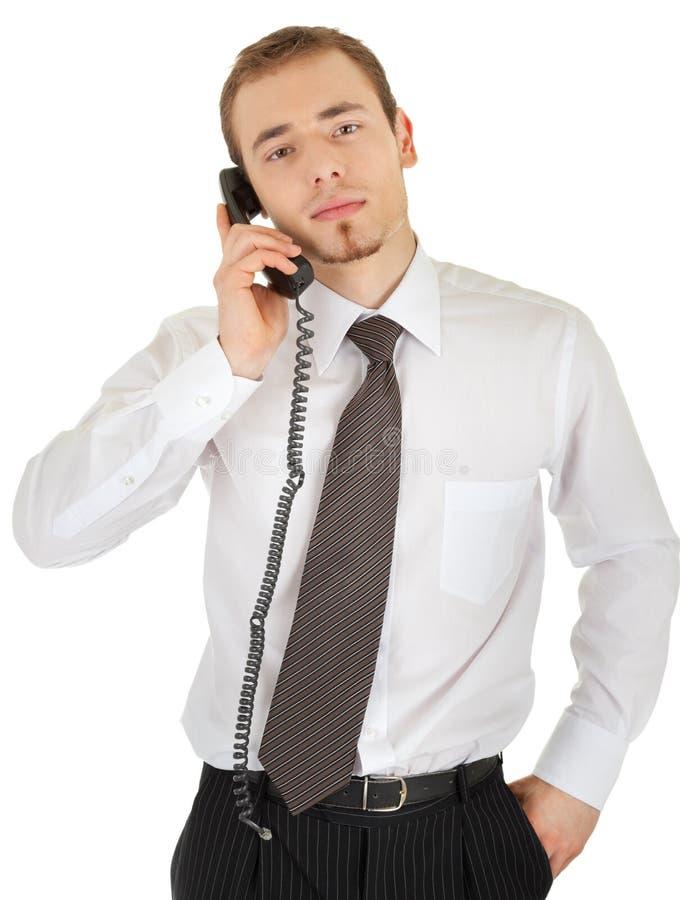 för mandräkt för affär högt barn för telefon royaltyfri bild