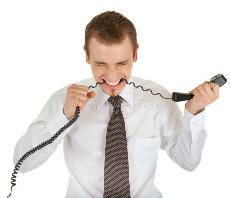 för mandräkt för affär högt barn för telefon arkivbild