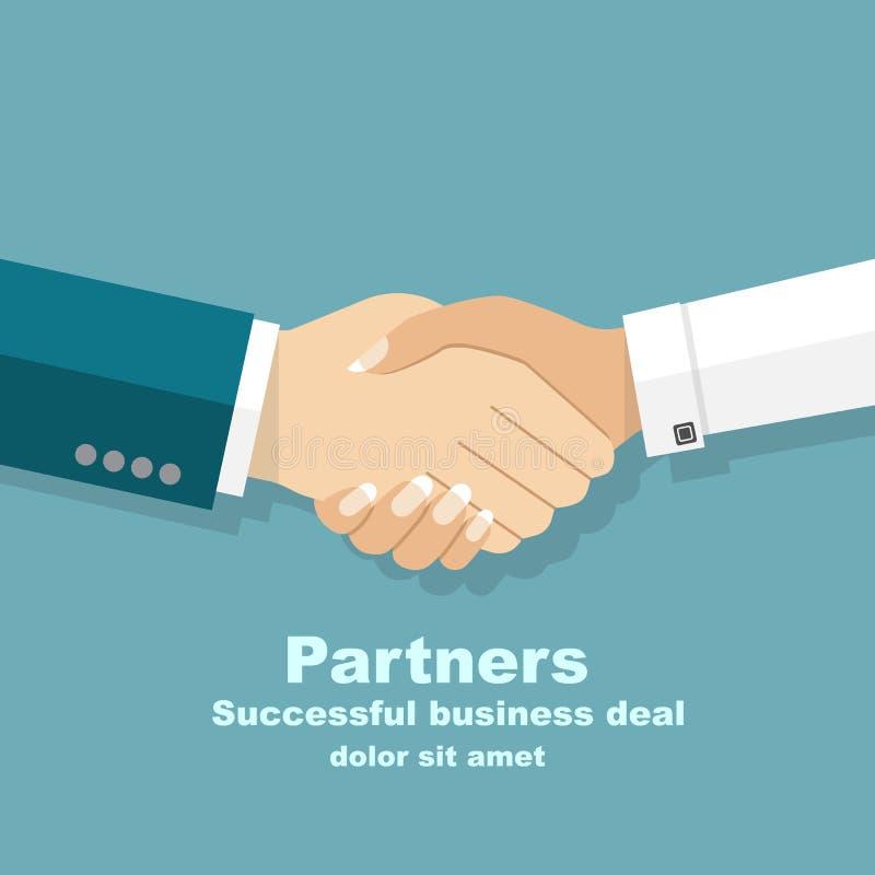 för manwhite för bakgrund handskakning isolerade kvinnor Handskakningen av affärsfolk blir partner med b royaltyfri illustrationer