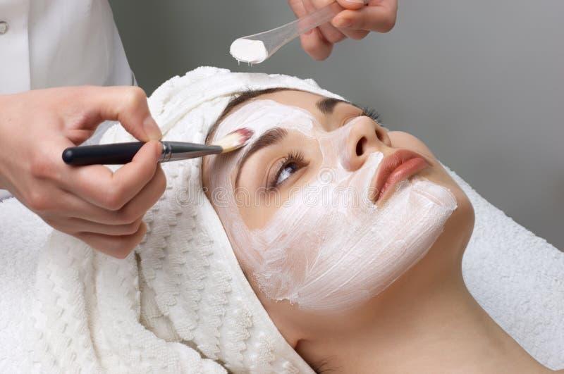 för maskeringssalong för skönhet ansikts- serie royaltyfria foton