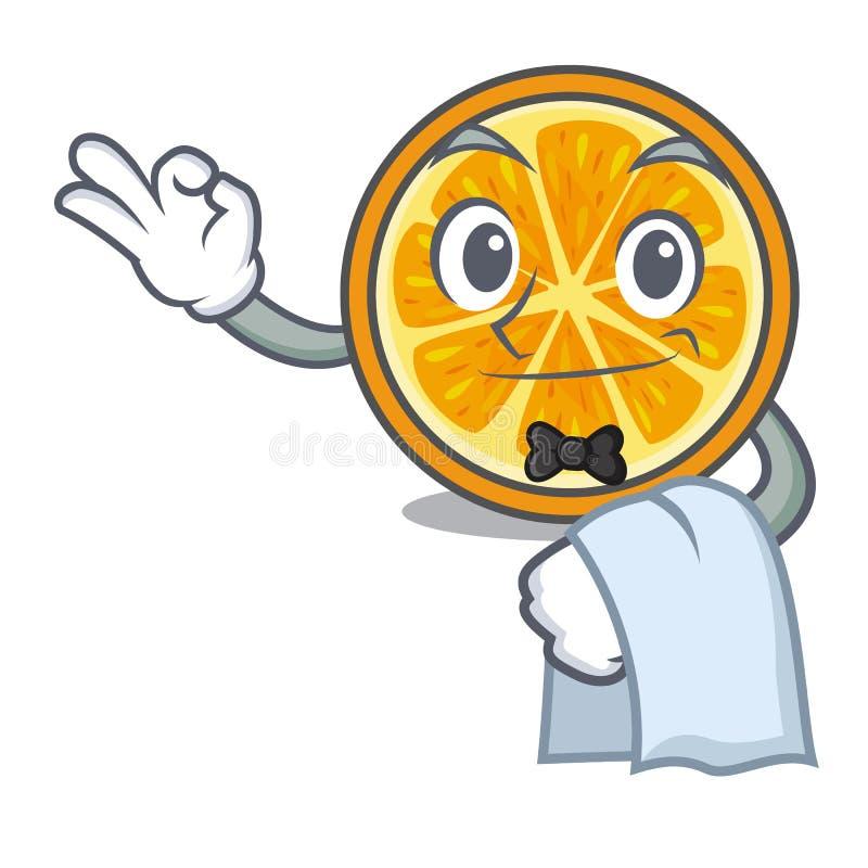 För maskottecknad film för uppassare orange stil royaltyfri illustrationer