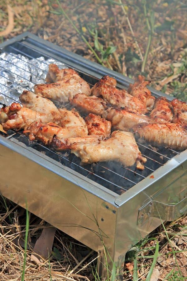 för matlagningmeet för bbq tätt foto upp arkivbild