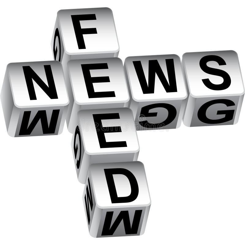 för matningsmeddelande för tärning 3d nyheterna stock illustrationer