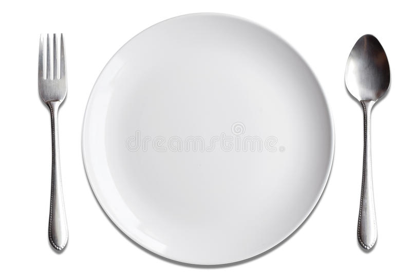 För maträttsked för bästa sikt vit gaffel på wood bakgrund fotografering för bildbyråer