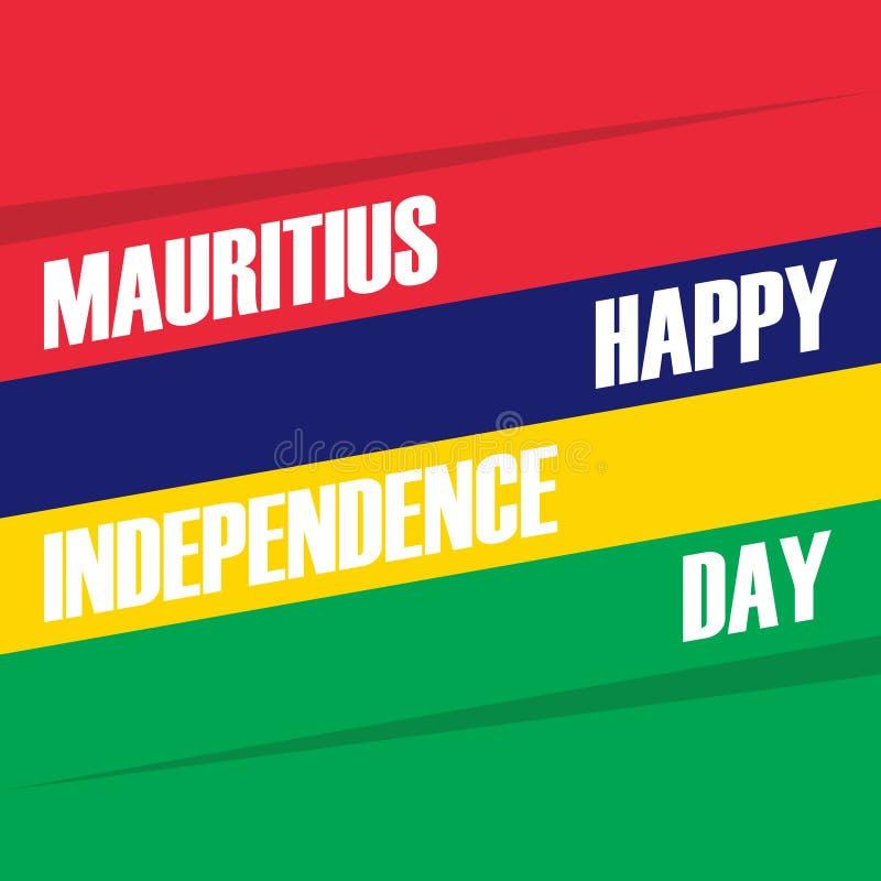 12 för Mauritius Happy Independence Day för marsch kort beröm royaltyfri illustrationer