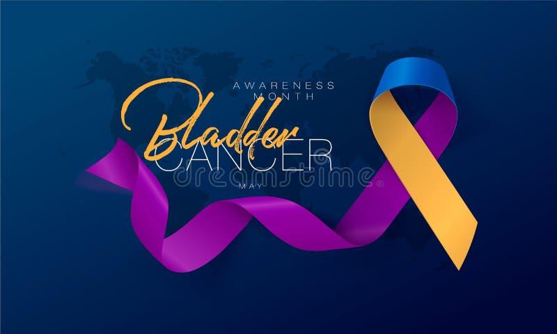 För medvetenhetkalligrafi för Testicular cancer design för affisch Realistiskt orkidéband April är cancermedvetenhetmånaden vekto vektor illustrationer