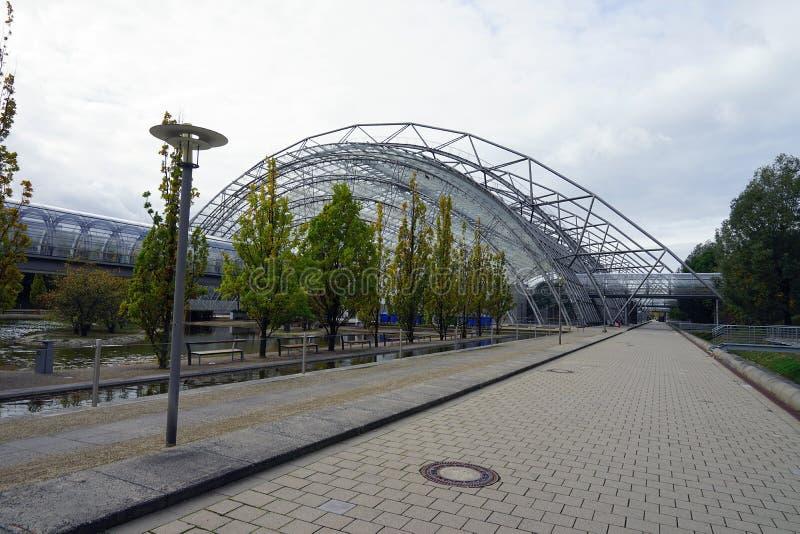 För Messe för handelmässa den Stadt Leipzig stad Tyskland Deutschland royaltyfri bild