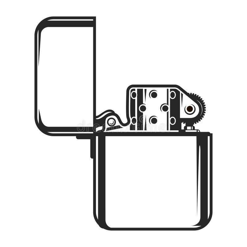 För metalltändare för tappning monokromt begrepp royaltyfri illustrationer