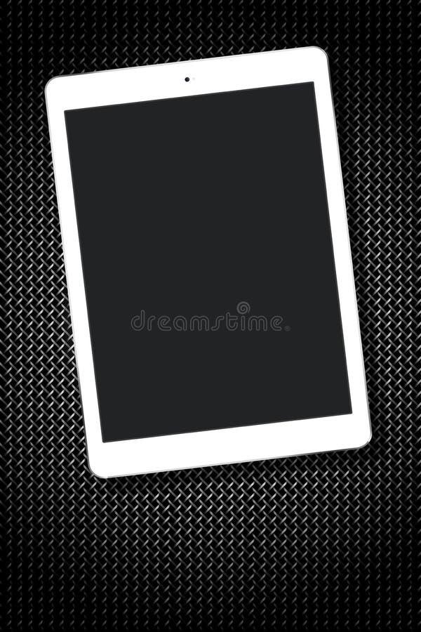 För minnestavlaPC för tom skärm metalliskt vitt raster royaltyfri fotografi