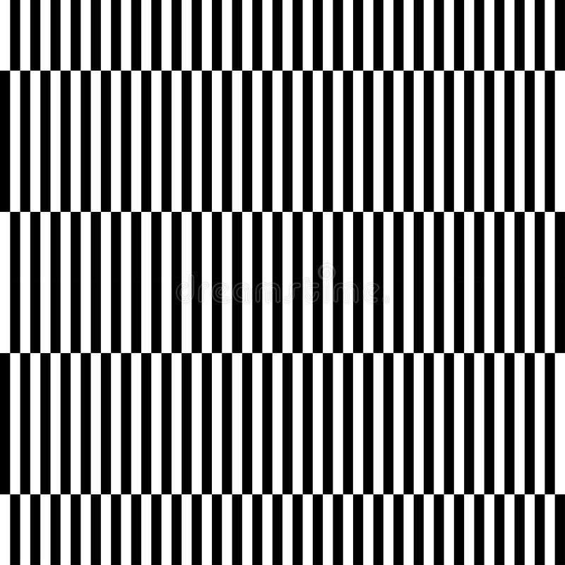 För modellabstrakt begrepp för svartvitt geometriskt band sömlös backg stock illustrationer
