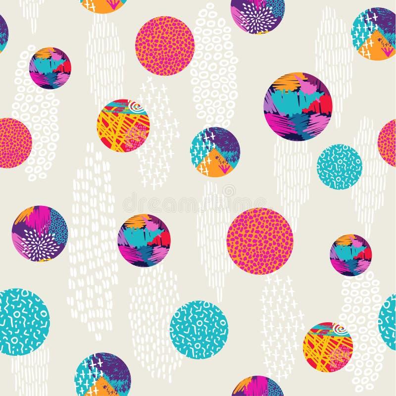 För modellbakgrund för abstrakt prick färgrik konst stock illustrationer