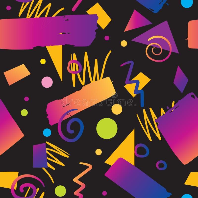 För modellbakgrund för färg sömlös stil för lutning för 90-tal vektor illustrationer