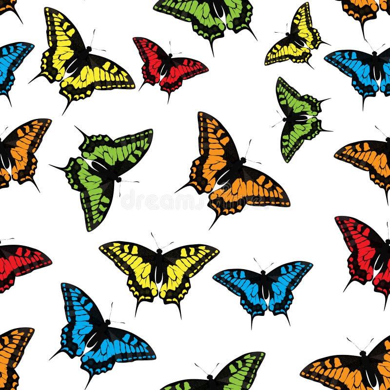 För modellbakgrund för fjäril sömlös vektor stock illustrationer