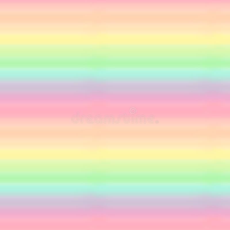 För modellbakgrund för gullig färgrik pastellfärgad regnbåge sömlös illustration stock illustrationer