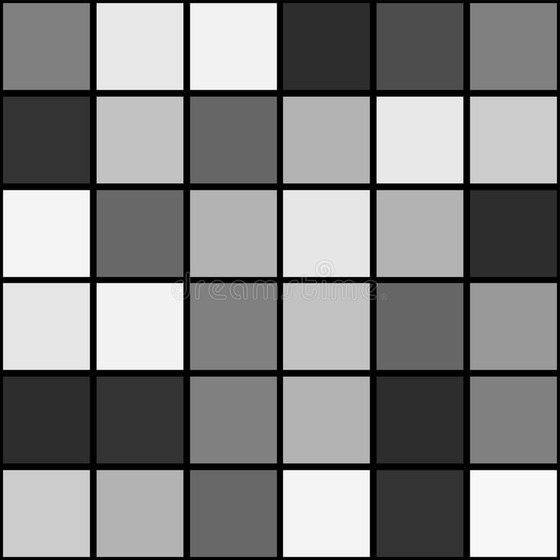 För modellbakgrund för svart vit mosaik sömlös fyrkant vektor illustrationer