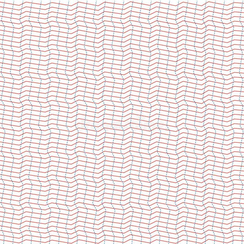 För modellillusion för vektor sömlös abstrakt stil arkivfoto