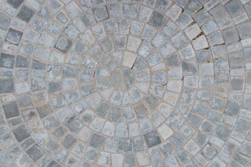 För modellkvarter för kullersten rund bakgrund för textur för trottoar Top beskådar vektor illustrationer