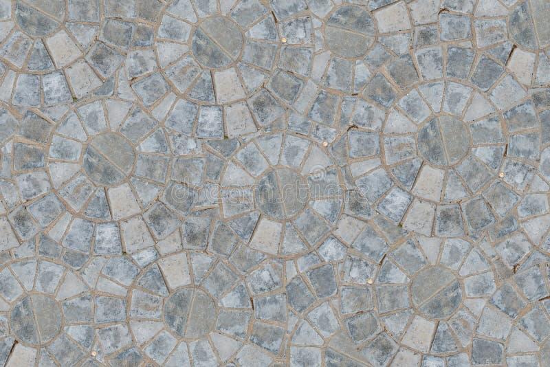 För modellkvarter för kullersten rund bakgrund för textur för trottoar Top beskådar stock illustrationer