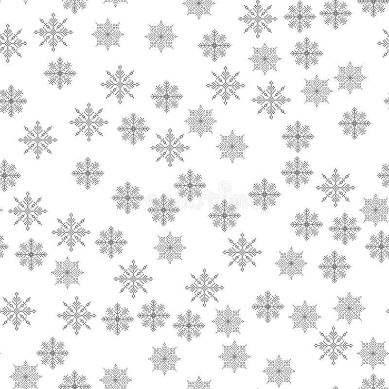 För modellljus för snöflinga sömlös illustration för vektor för bakgrund för jul temat av vintern, nytt år, ferie vektor illustrationer