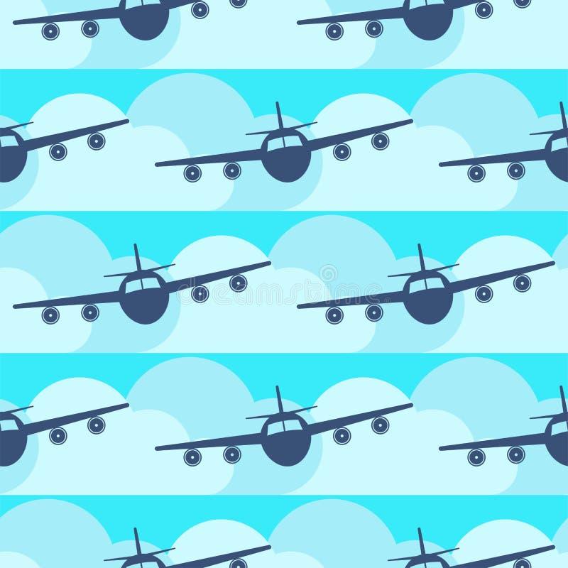 För modelloriginal för plan transport sömlös illustration för vektor för flygplan för flygplan för frihet för trans. för lopp för vektor illustrationer