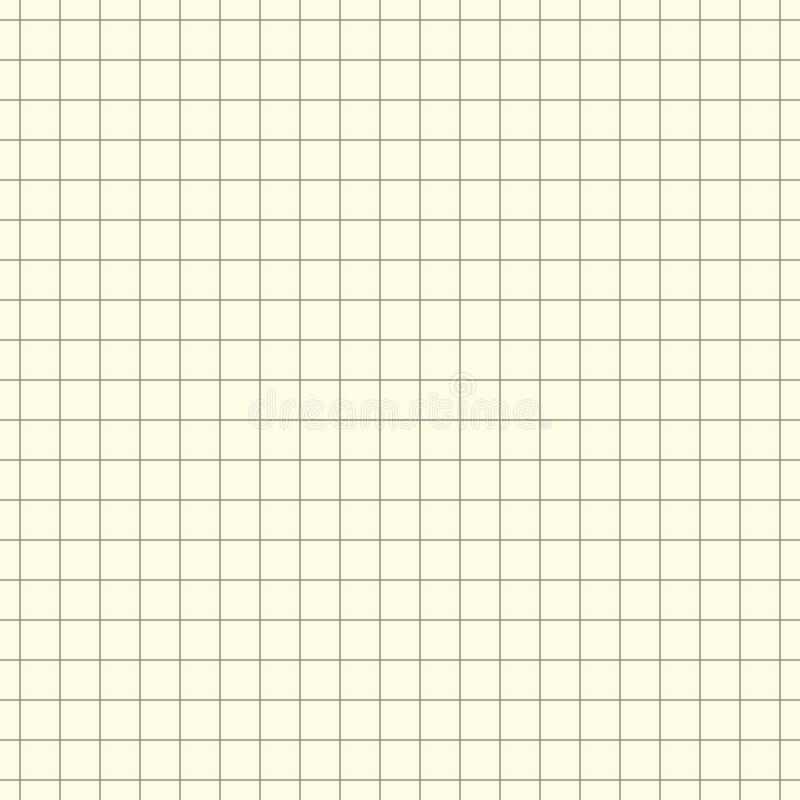 För modellpapper för vektor sömlös skrivbok i en cell Texturanteckningsbokark vektor illustrationer