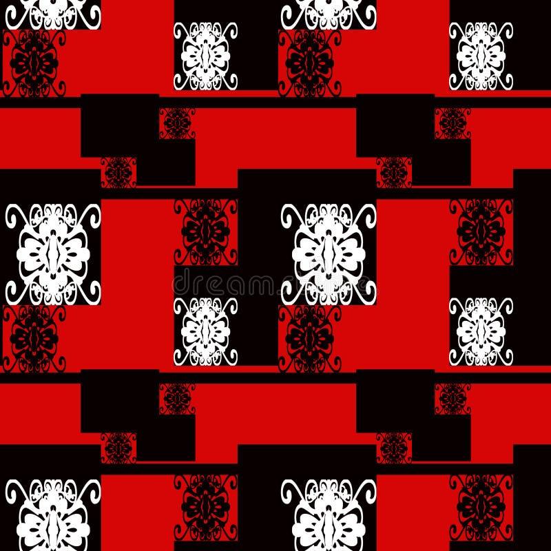 För modellprydnad för patchwork sömlös backgroun för geometrisk design vektor illustrationer