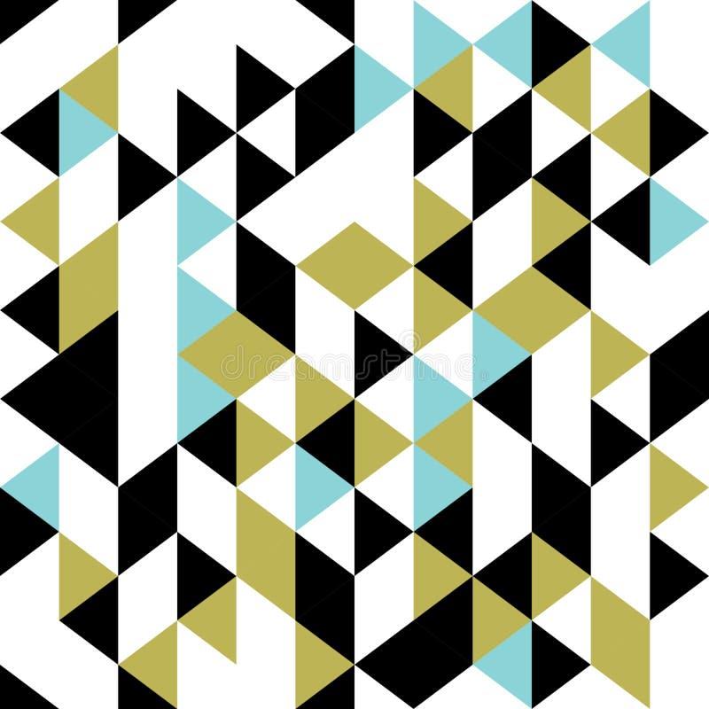 För modellvektor för triangel retro sömlös illustration Hipstertappningtapet som är bra för modetextil stock illustrationer