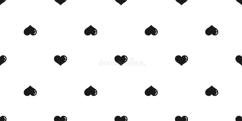 För modellvektorn för hjärta isolerade den sömlösa valentin bakgrund för tapeten för bubblatecknad filmklottret stock illustrationer