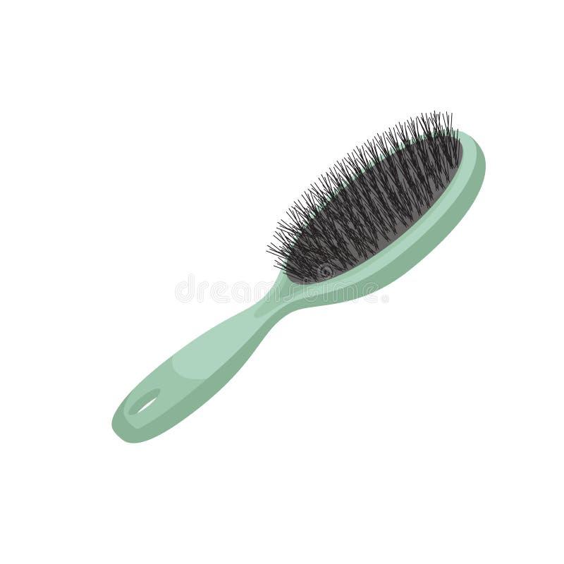 För moderiktig borste för hår stilgräsplan för tecknad film plast- för att utforma Vektorsmink och illustration för håromsorg vektor illustrationer