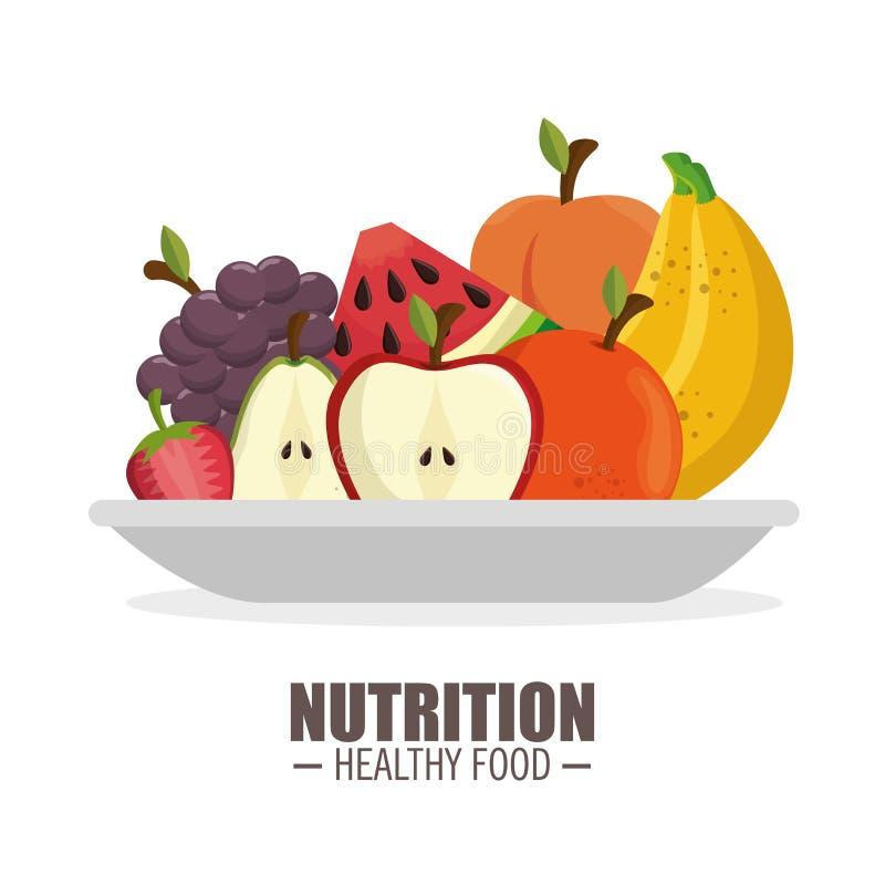 för mogen design för mat frflattnäring för skörd sund stock illustrationer