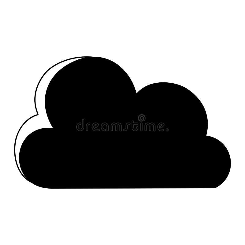 För molnnatur för kontur trevlig symbol för väder stock illustrationer