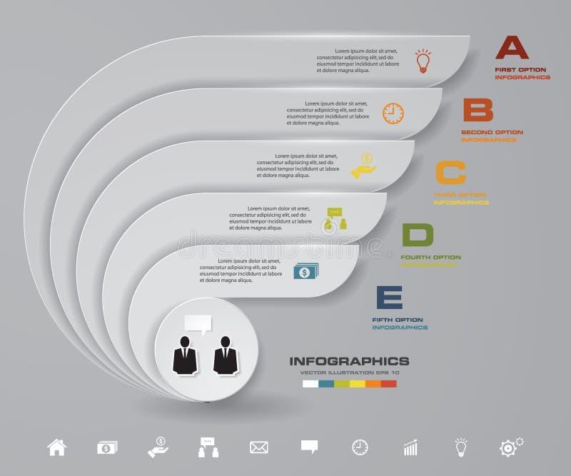 För momentpresentation för abstrakt begrepp 5 mall EPS10 royaltyfri illustrationer