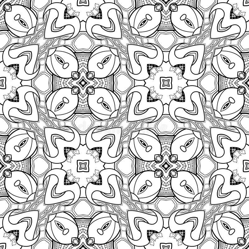 För monokromabstrakt begrepp för vektor sömlös modell stock illustrationer
