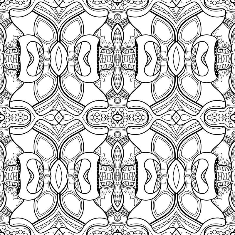 För monokromabstrakt begrepp för vektor sömlös modell royaltyfri illustrationer