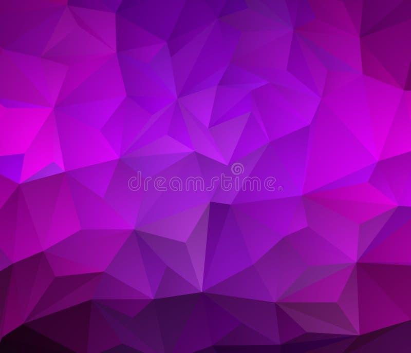 För mosaikabstrakt begrepp för mörk purpurfärgad vektor abstrakt mosaik En elegant ljus illustration med lutning vektor illustrationer