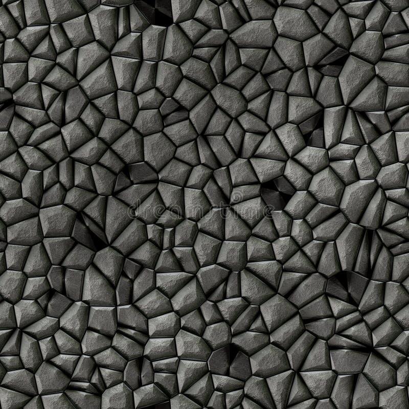 För mosaikmodell för stenar sömlös bakgrund för ojämn textur - gråa svarta naturliga kulöra stycken för trottoar vektor illustrationer