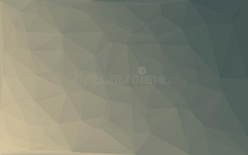 För mosaikvektor för polygon abstrakt bakgrund för buse för guling vektor illustrationer