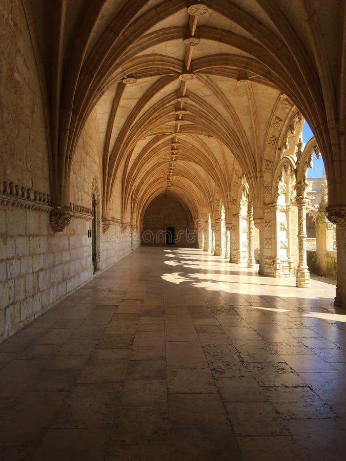 För Mosteiro för kloster för Jerà ³nimos eller Hieronymites klosternimosna för ³ DOS Jerà royaltyfri bild