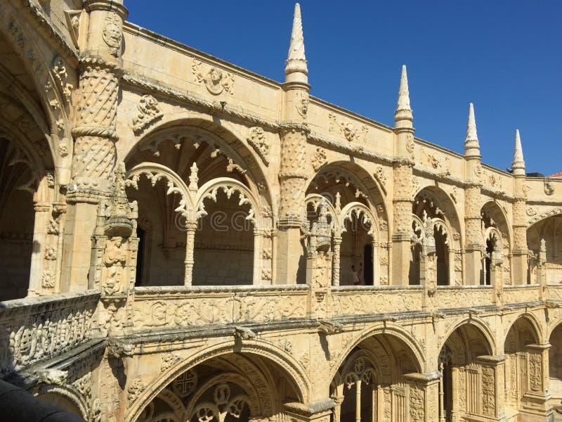 För Mosteiro för kloster för Jerà ³nimos eller Hieronymites klosternimosna för ³ DOS Jerà royaltyfri foto