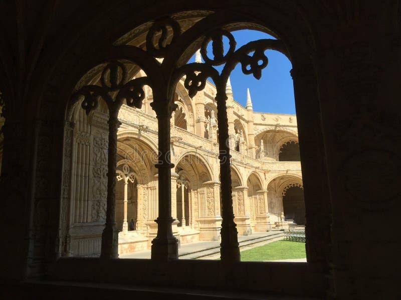 För Mosteiro för kloster för Jerà ³nimos eller Hieronymites klosternimosna för ³ DOS Jerà arkivbilder