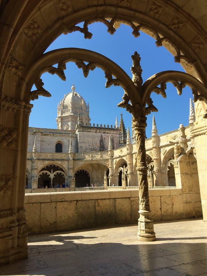 För Mosteiro för kloster för Jerà ³nimos eller Hieronymites klosternimosna för ³ DOS Jerà royaltyfri fotografi