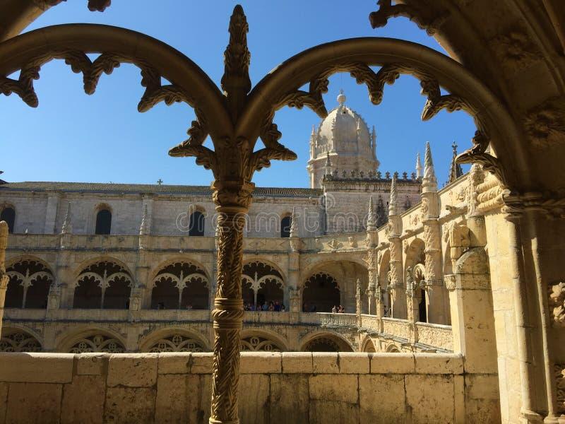För Mosteiro för kloster för Jerà ³nimos eller Hieronymites klosternimosna för ³ DOS Jerà arkivfoto
