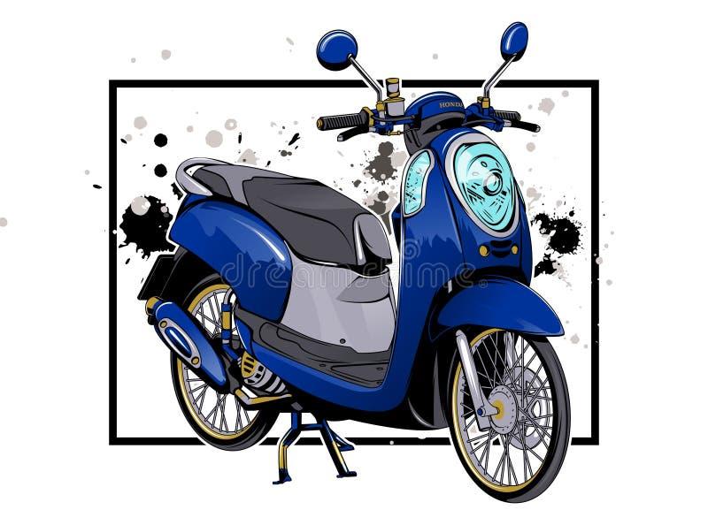 F?r motocyclevektor f?r sparkcykel matic konst f?r illustration vektor illustrationer