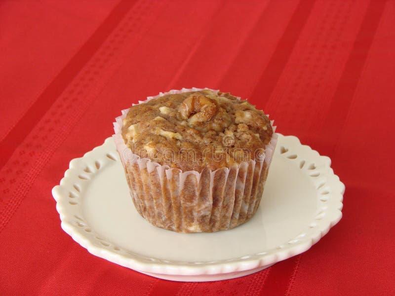 för muffinplatta för äpple utsmyckad white royaltyfri fotografi