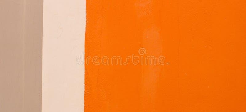 För murbruktextur för orange, beige och vit grunge strukturell bakgrund för baner royaltyfri illustrationer