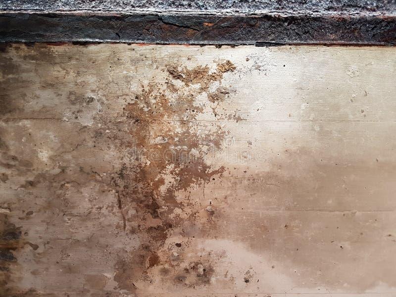 För murbrukvägg för Grunge smutsig rostad bakgrund för bakgrund arkivbild